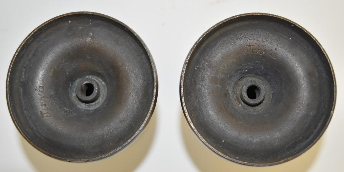 Pair of Arts & Crafts Bronze Candlesticks - 6