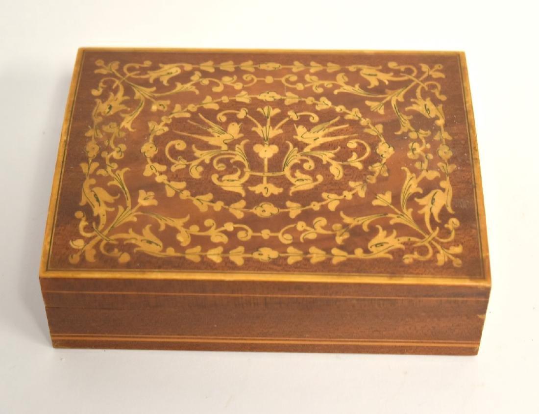 Satinwood Inlaid Wood Box - 2