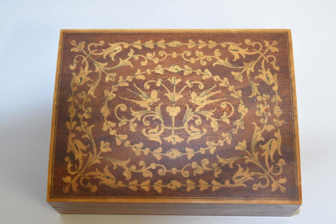 Satinwood Inlaid Wood Box - 3