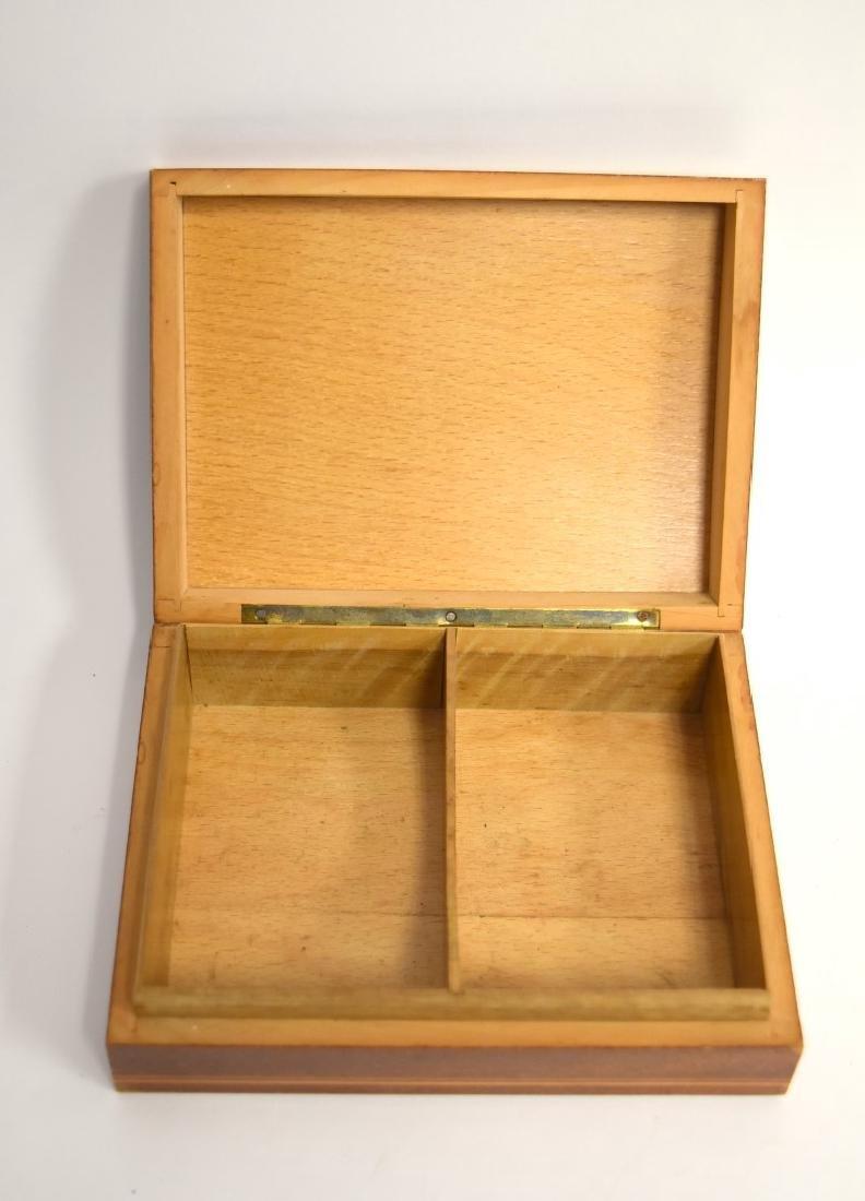 Satinwood Inlaid Wood Box - 5