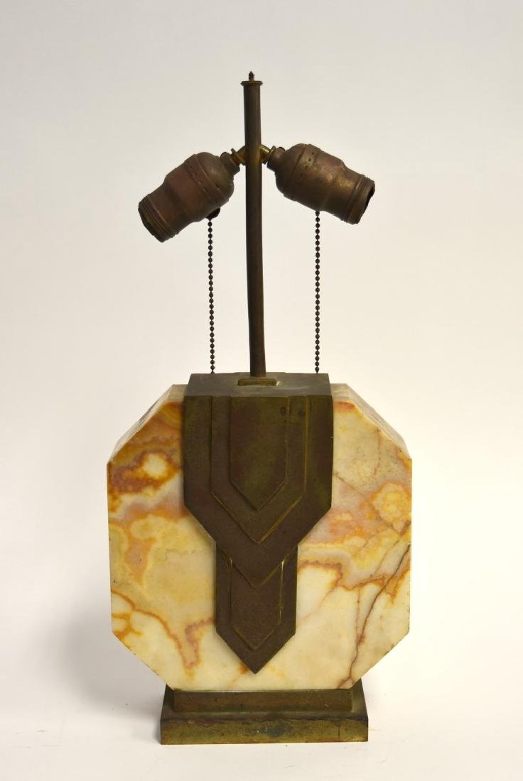 Edgar Brandt(manner of); Art Deco Marble Lamp - 2