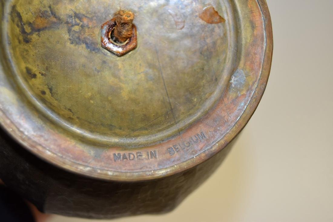 L. Provins; Belgian Art Deco Copper Lamp Signed - 9