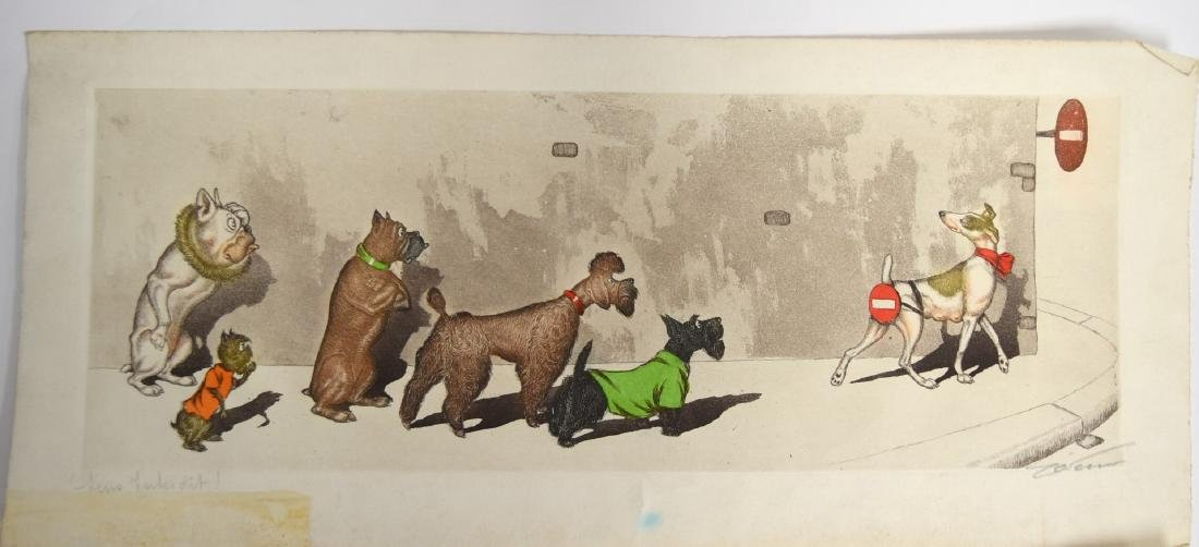 Boris O'Klein; Two(2) Whimsical Etchings Signed - 4