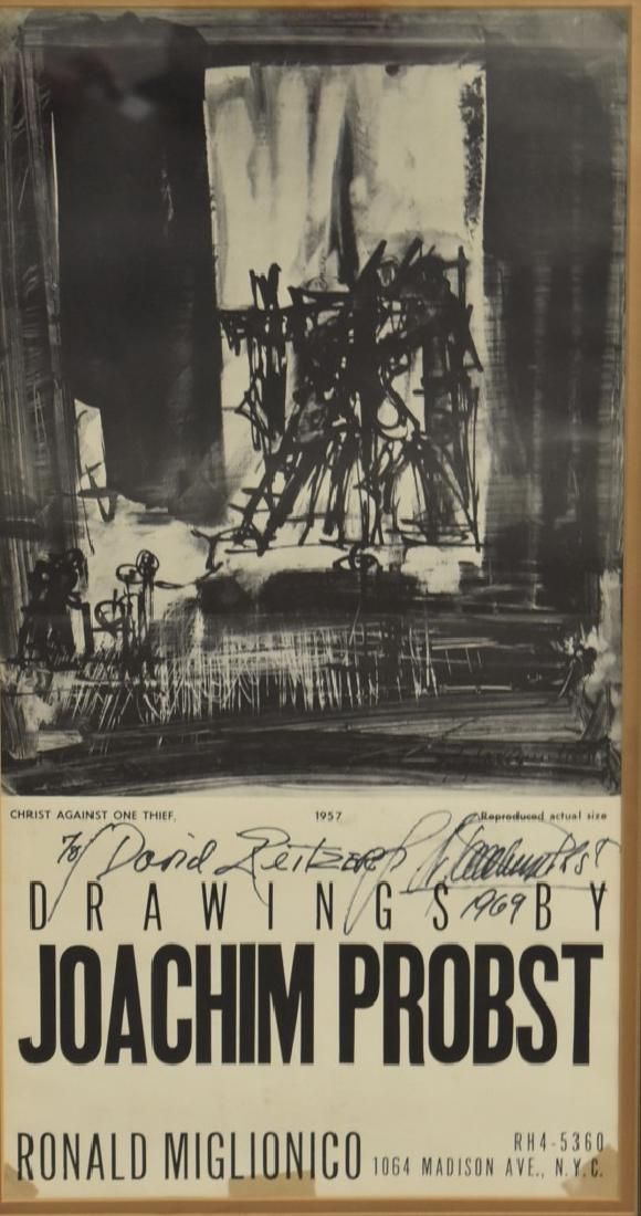 Joachim Probst 1957 Exhibition Poster Signed