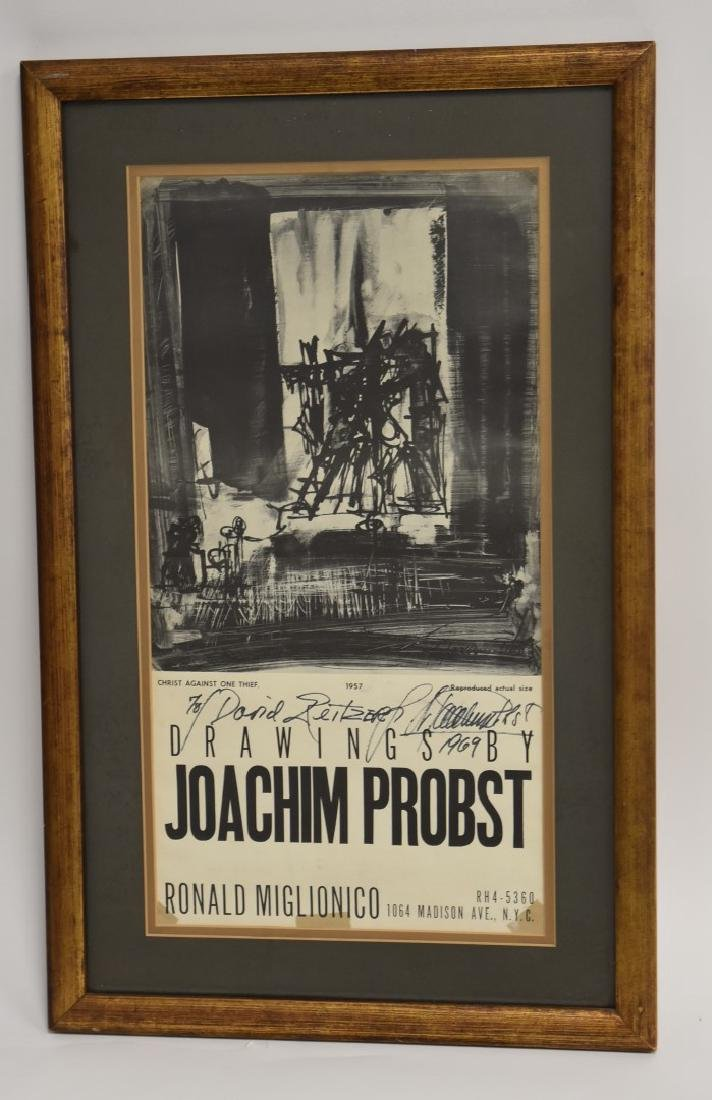 Joachim Probst 1957 Exhibition Poster Signed - 2