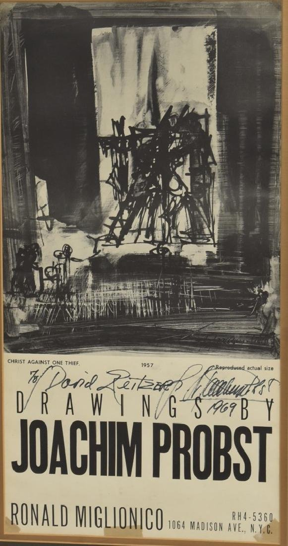 Joachim Probst 1957 Exhibition Poster Signed - 3