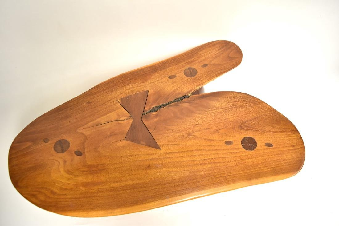 George Nakashima(after); Modernist Low Wood Table - 3
