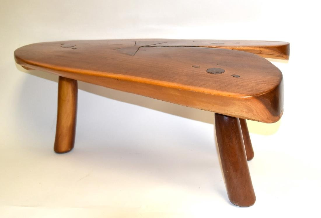 George Nakashima(after); Modernist Low Wood Table - 4