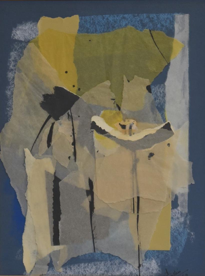Collier; 20thC. Modernist Collage Signed