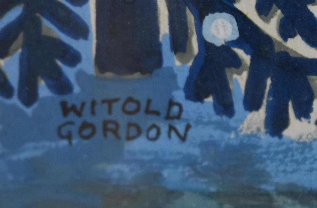 Witold Gordon; 20thC. Gouache Illustration Signed - 4
