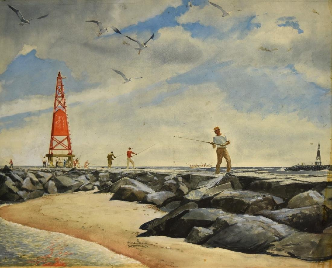 Edgar Franklin Wittmack; 20thC. Watercolor Signed