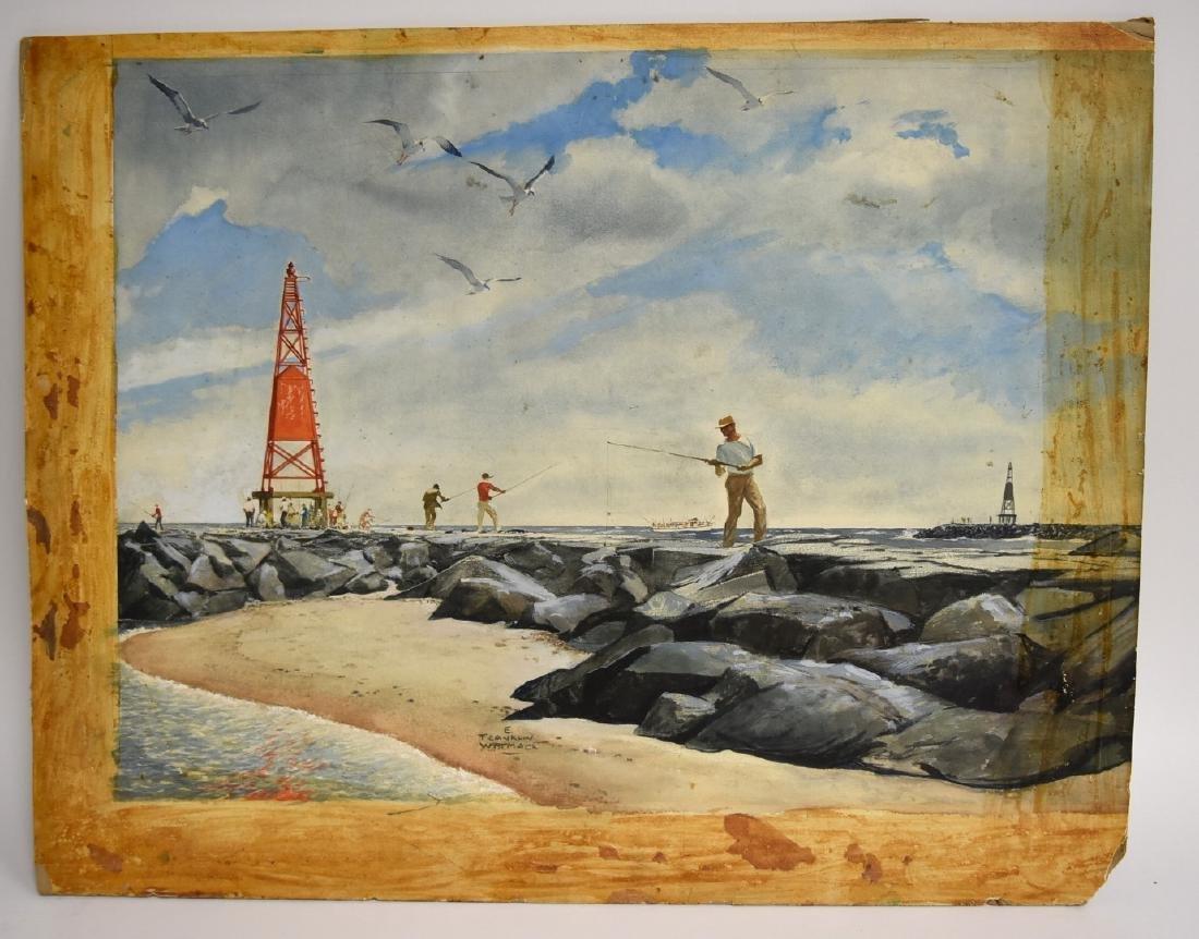 Edgar Franklin Wittmack; 20thC. Watercolor Signed - 2