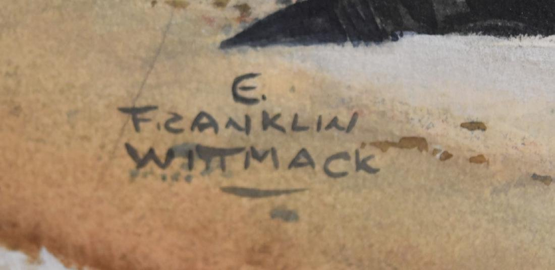 Edgar Franklin Wittmack; 20thC. Watercolor Signed - 4