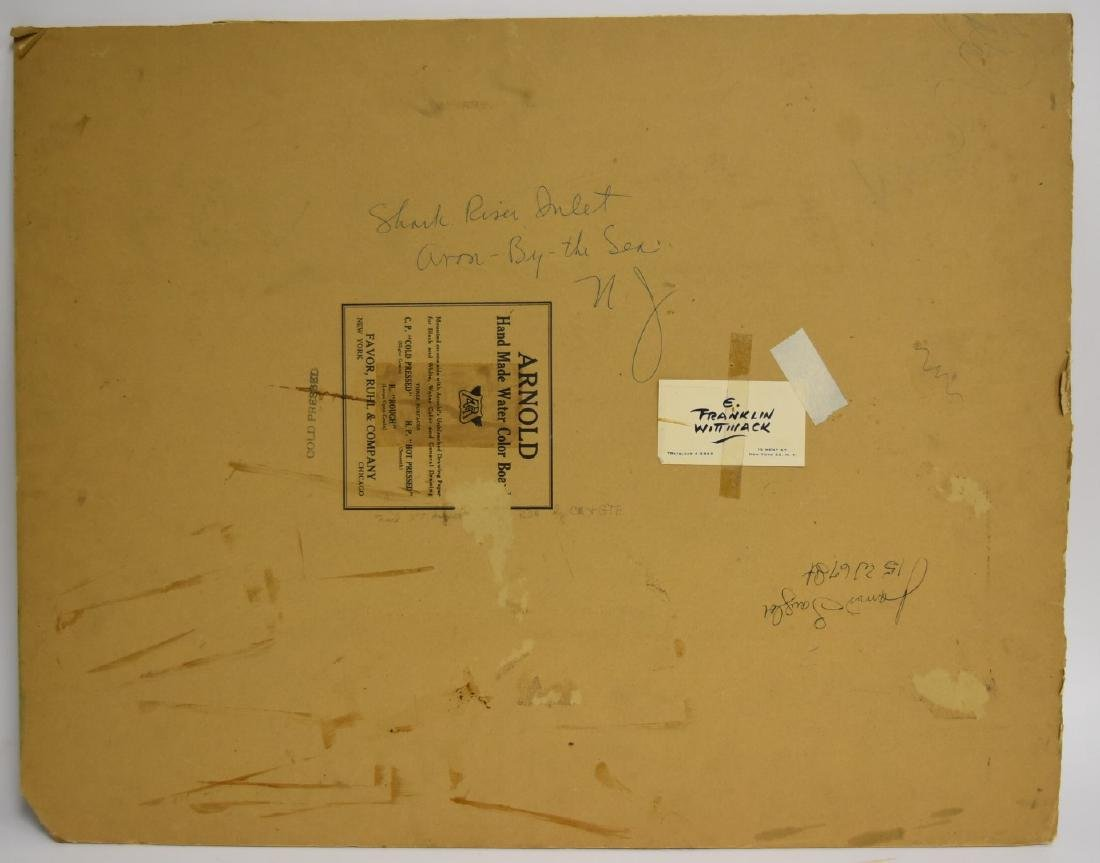 Edgar Franklin Wittmack; 20thC. Watercolor Signed - 5