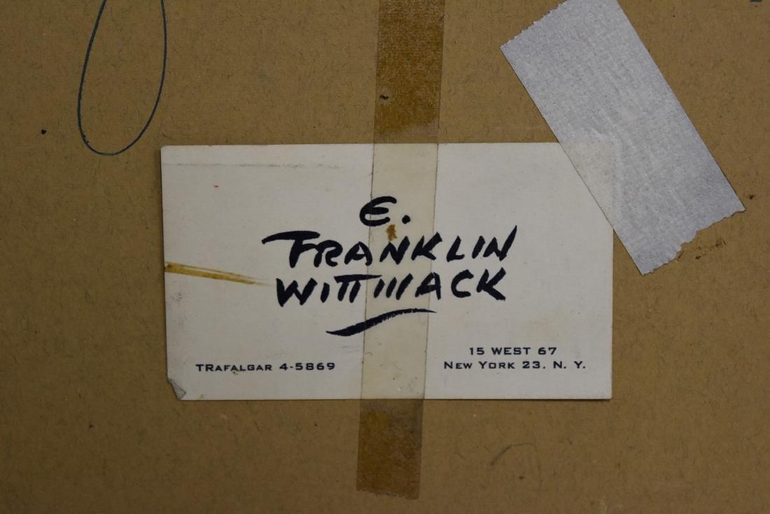 Edgar Franklin Wittmack; 20thC. Watercolor Signed - 7