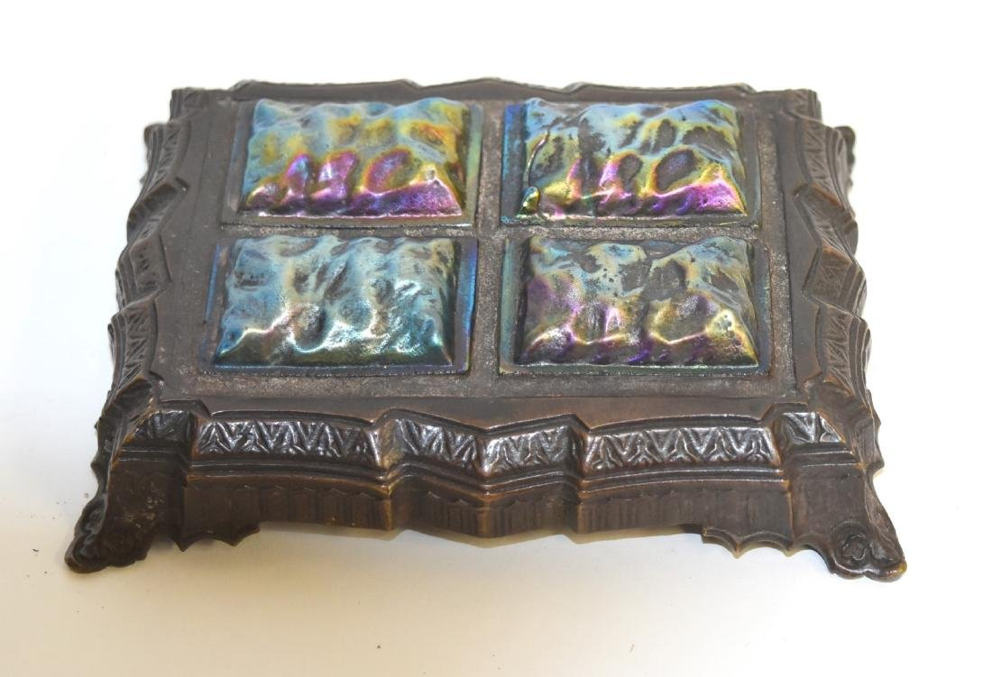 Tiffany Studios(after); Bronze and Glass Papereweight
