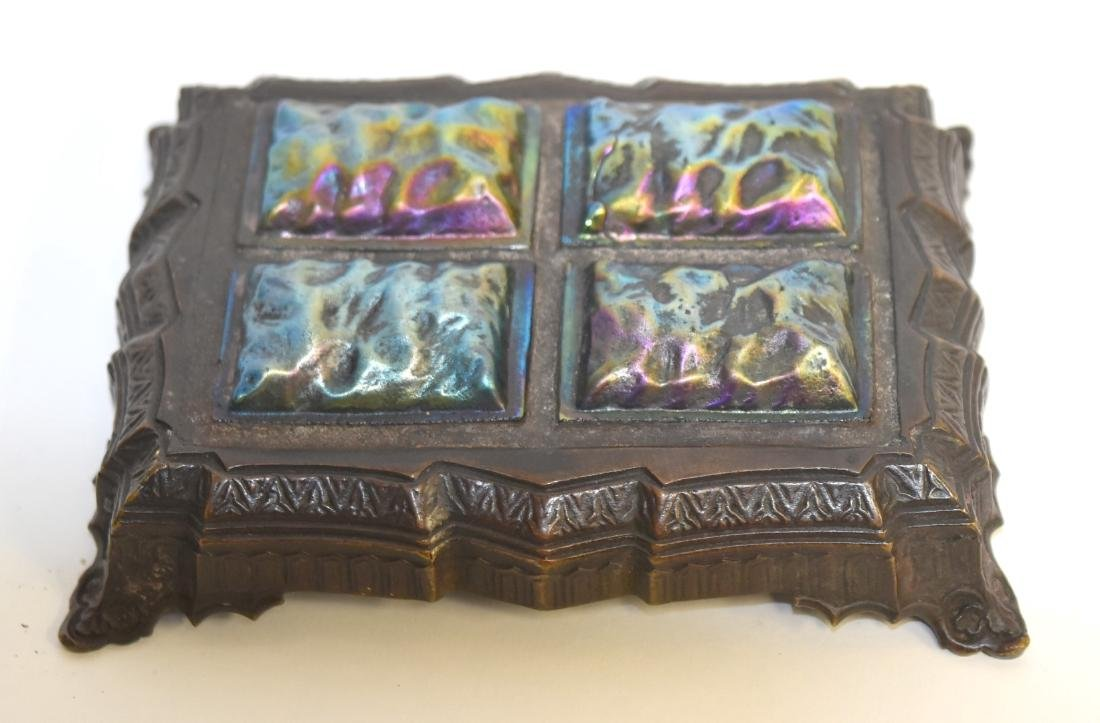 Tiffany Studios(after); Bronze and Glass Papereweight - 2