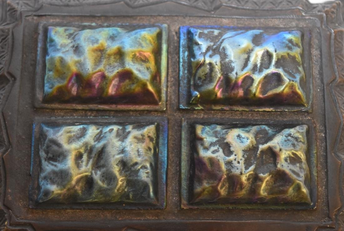 Tiffany Studios(after); Bronze and Glass Papereweight - 4