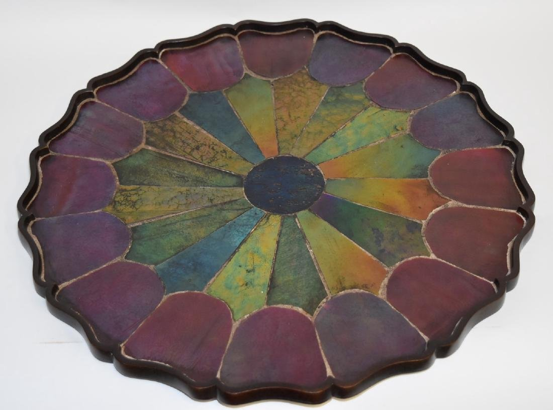 Tiffany Studios(after); Inlaid Bronze and Glass Tray