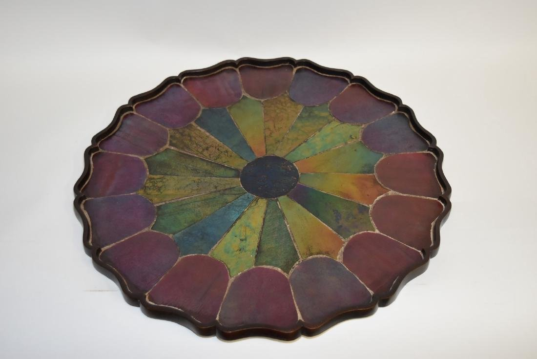 Tiffany Studios(after); Inlaid Bronze and Glass Tray - 2