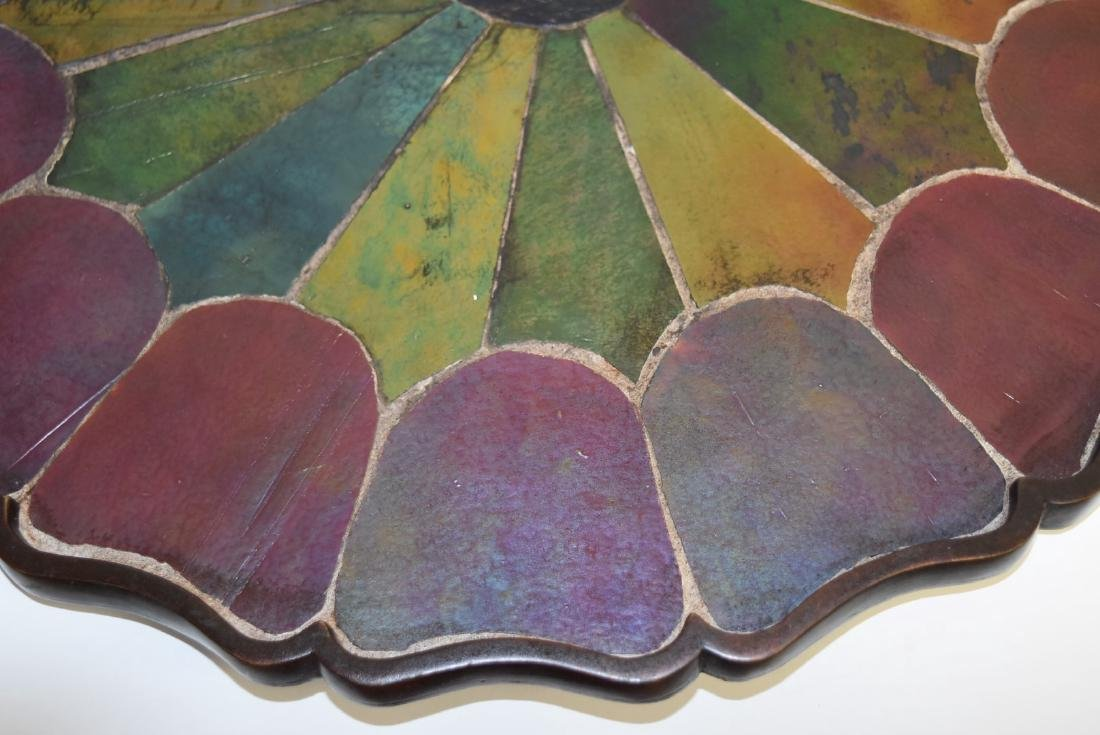Tiffany Studios(after); Inlaid Bronze and Glass Tray - 3