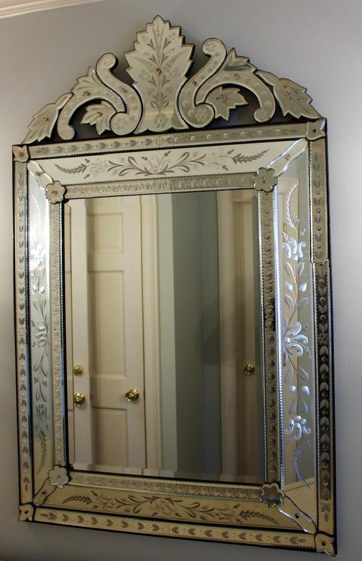 Venetian Etched Glass Mirror