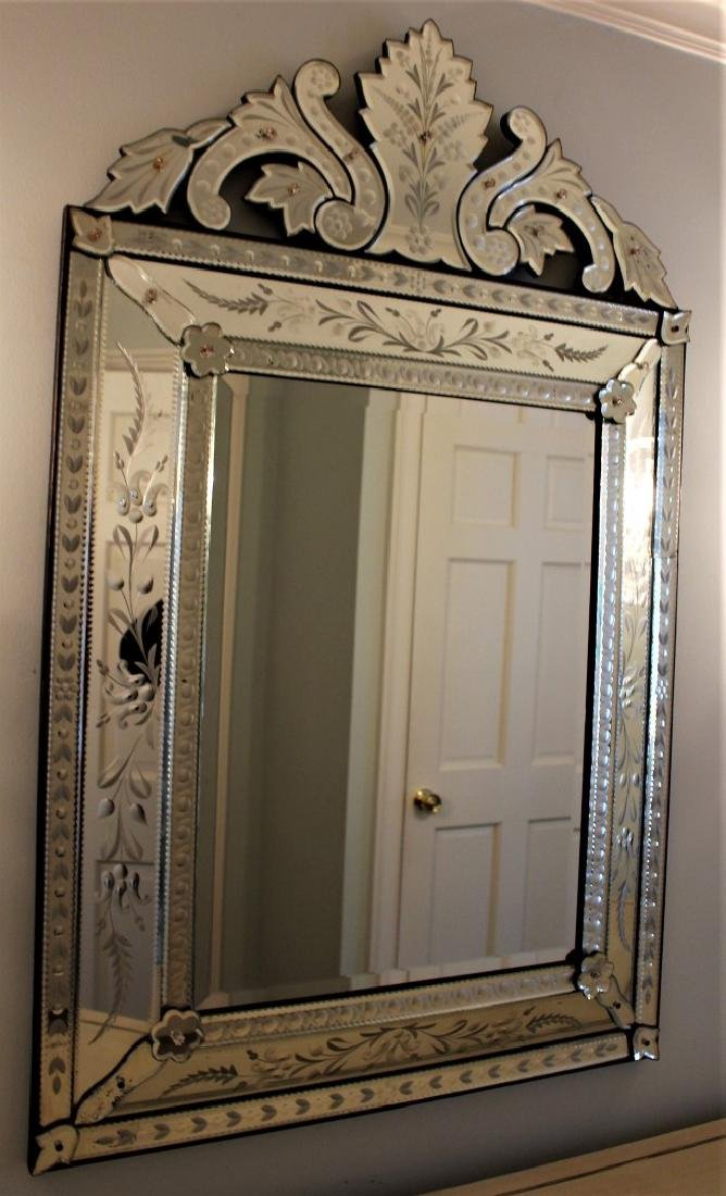 Venetian Etched Glass Mirror - 2