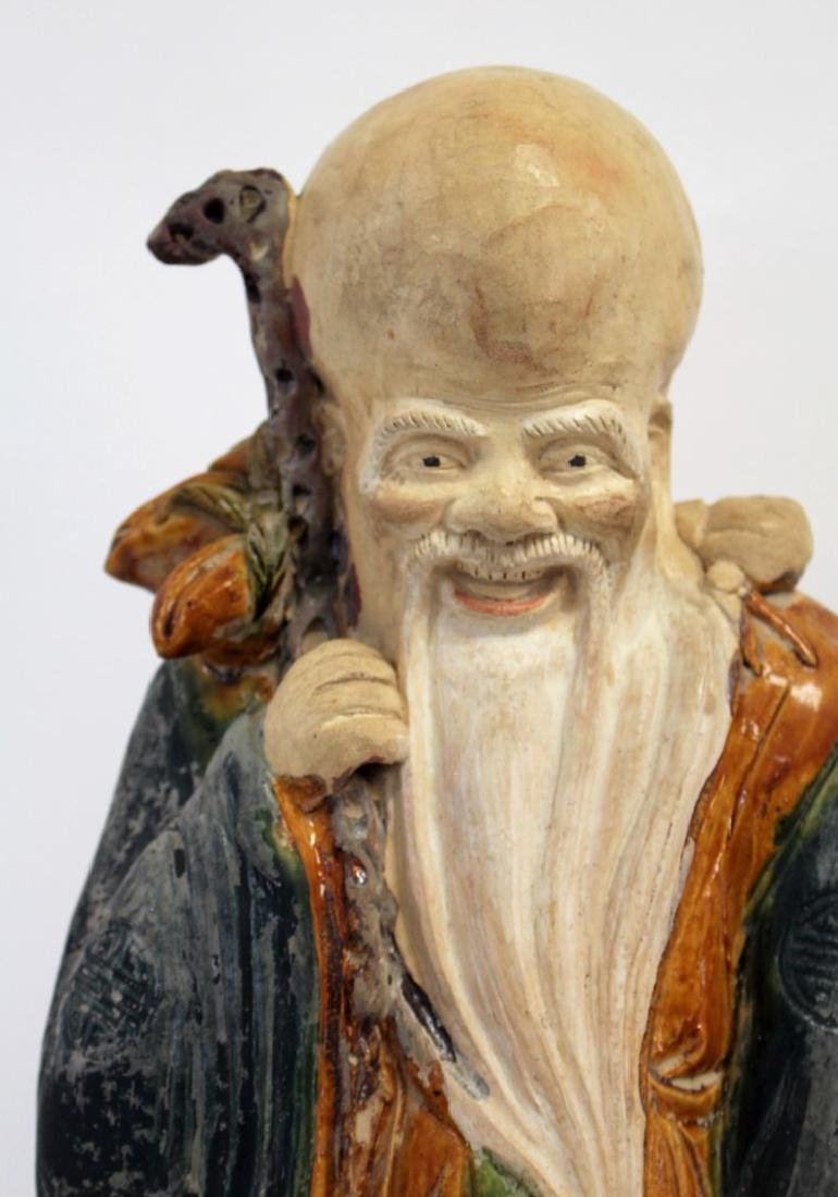 Chinese Glazed Pottery Figure of a Wiseman - 3