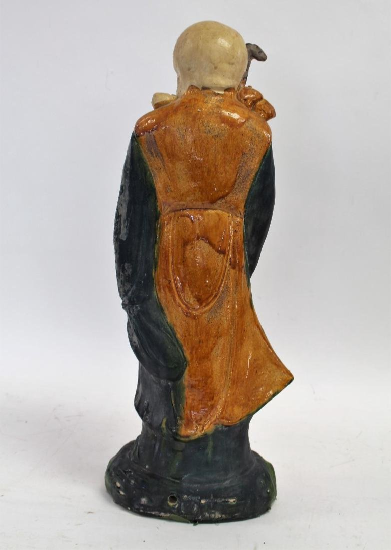 Chinese Glazed Pottery Figure of a Wiseman - 5