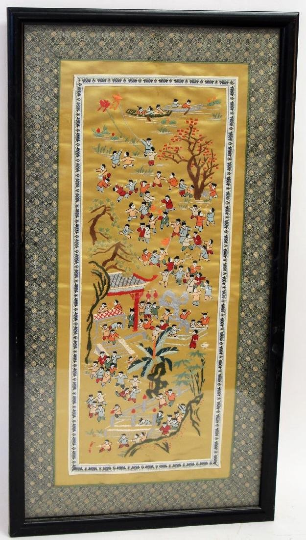Framed Chinese Embroidery - 6