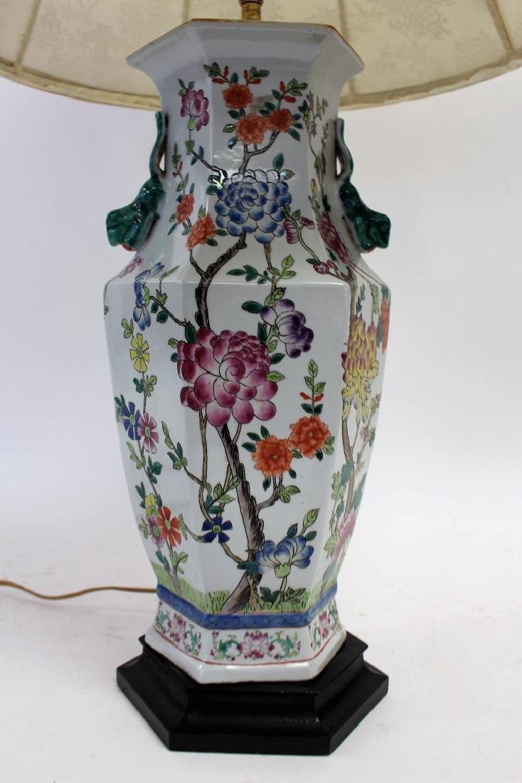 Chinese Porcelain Lamp - 3