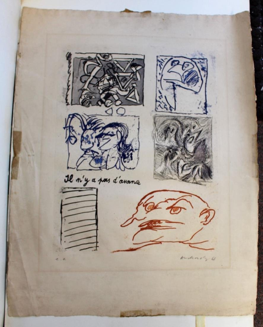 20thC. Modernist Artist Proof Lithograpg Signed - 2
