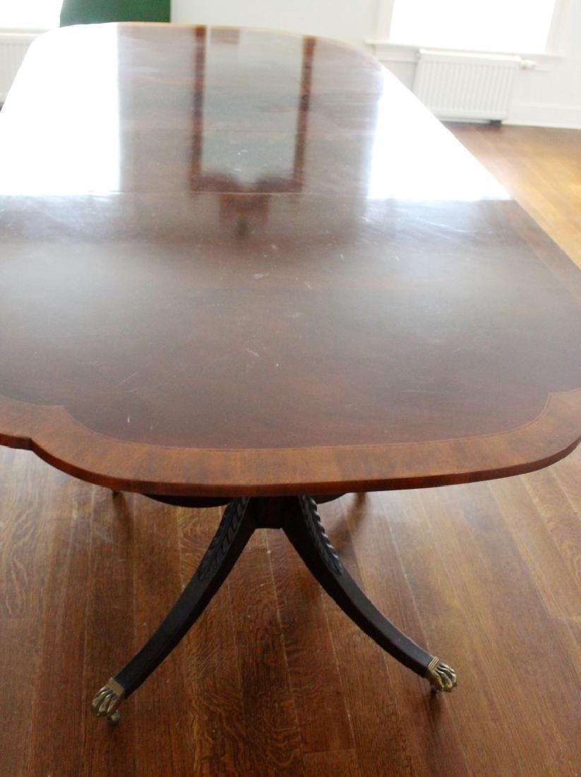 Sheraton Style Inlaid Mahogany Dining Table - 3