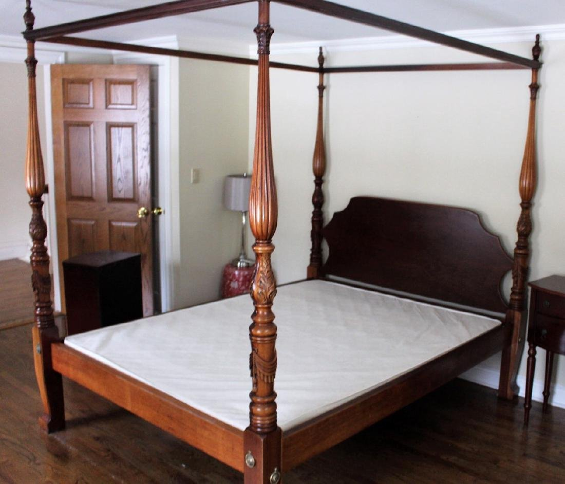 Mahogany Four(4) Post Canopy Bed & Four(4) Post Canopy Bed
