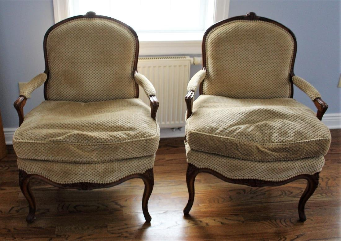 Pair of French Bergere Arm Chairs