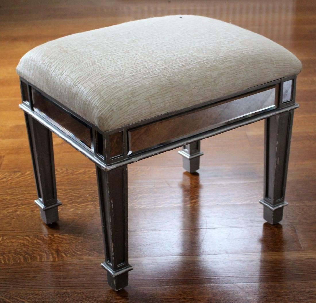 Hollywood Regency Mirrored Stool