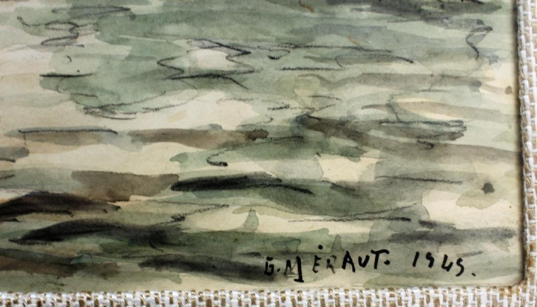 G. Meraut; Three(3) 20thC. French Watercolors Signed - 3