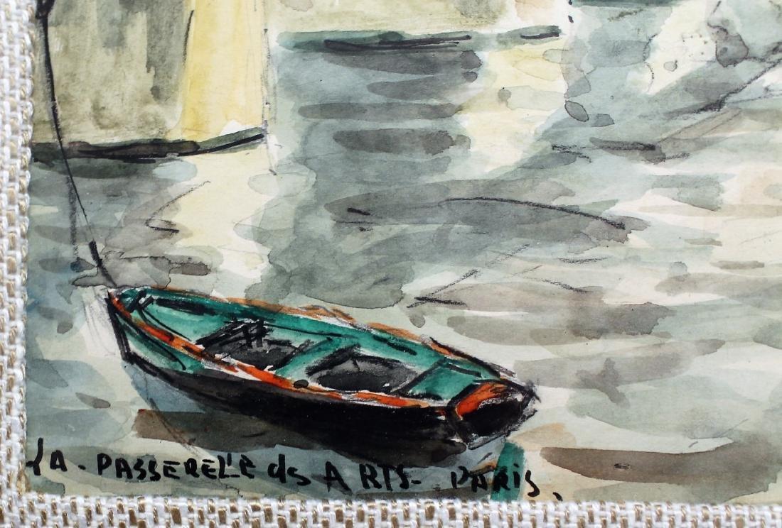 G. Meraut; Three(3) 20thC. French Watercolors Signed - 4