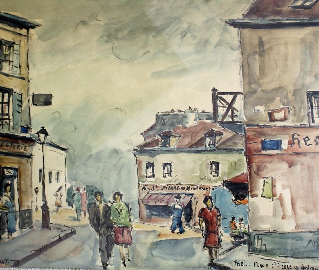 G. Meraut; Three(3) 20thC. French Watercolors Signed - 5