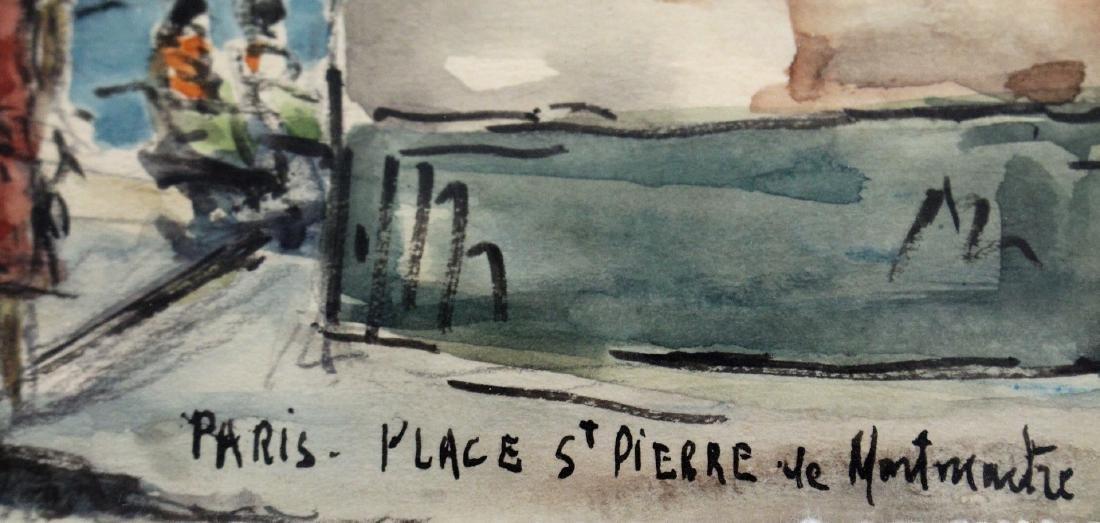 G. Meraut; Three(3) 20thC. French Watercolors Signed - 6
