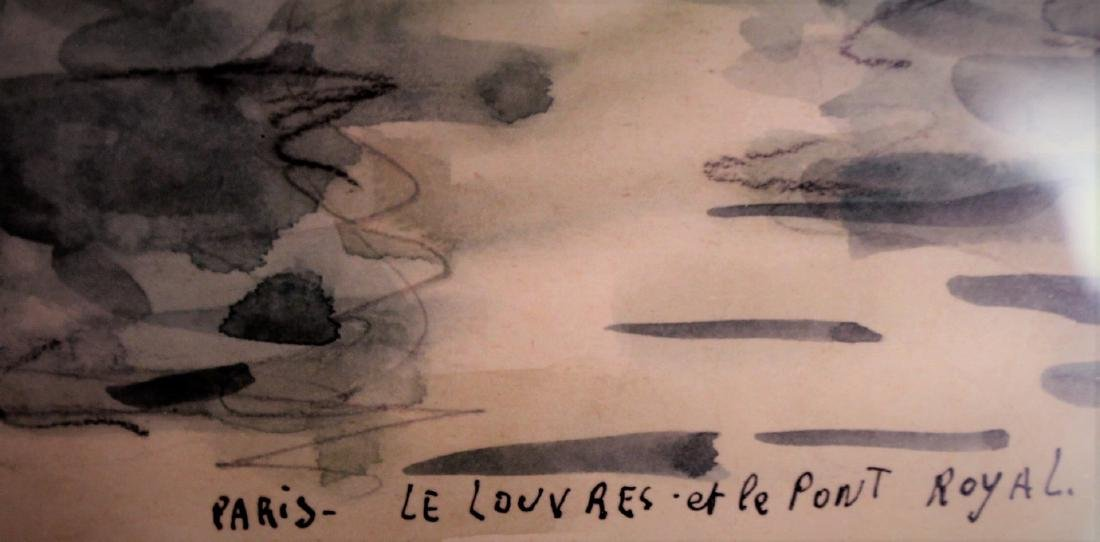 G. Meraut; Three(3) 20thC. French Watercolors Signed - 8
