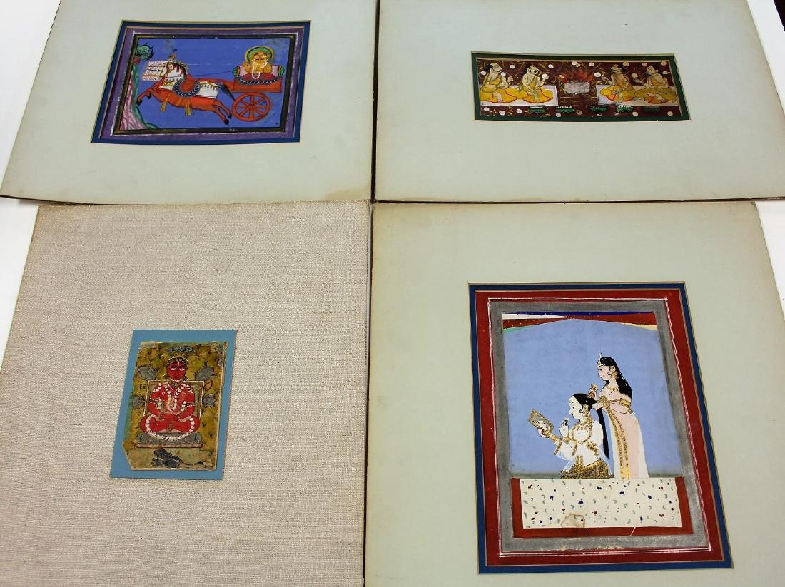 Four(4) Early Persian Works on Paper