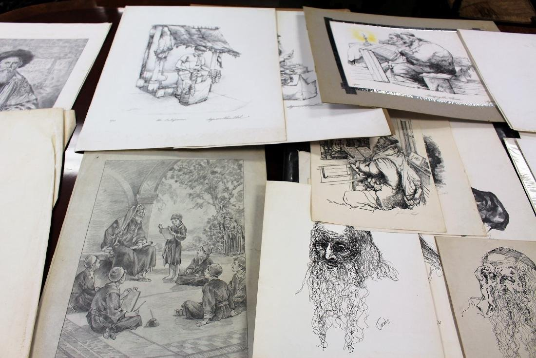 Lot of Miscellaneous Judaica Lithographs(25+) - 4