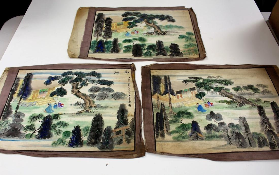 Three(3) Early Chinese Watercolors
