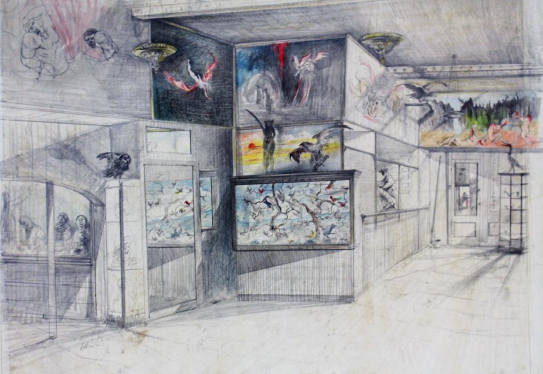 Original Illustration - Coney Island Wax Museum