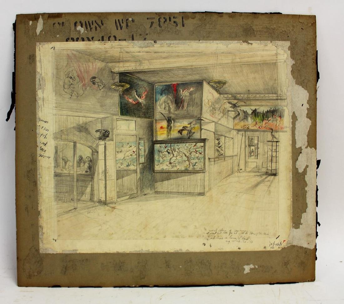 Original Illustration - Coney Island Wax Museum - 2