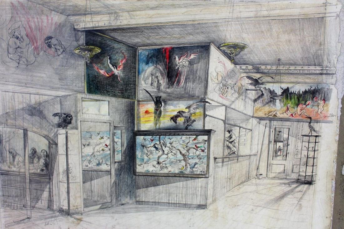 Original Illustration - Coney Island Wax Museum - 3