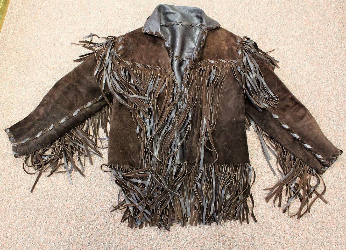 Vintage Suede and Fringe Men's Jacket