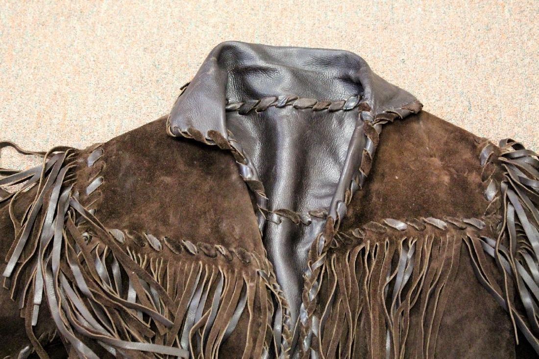 Vintage Suede and Fringe Men's Jacket - 2