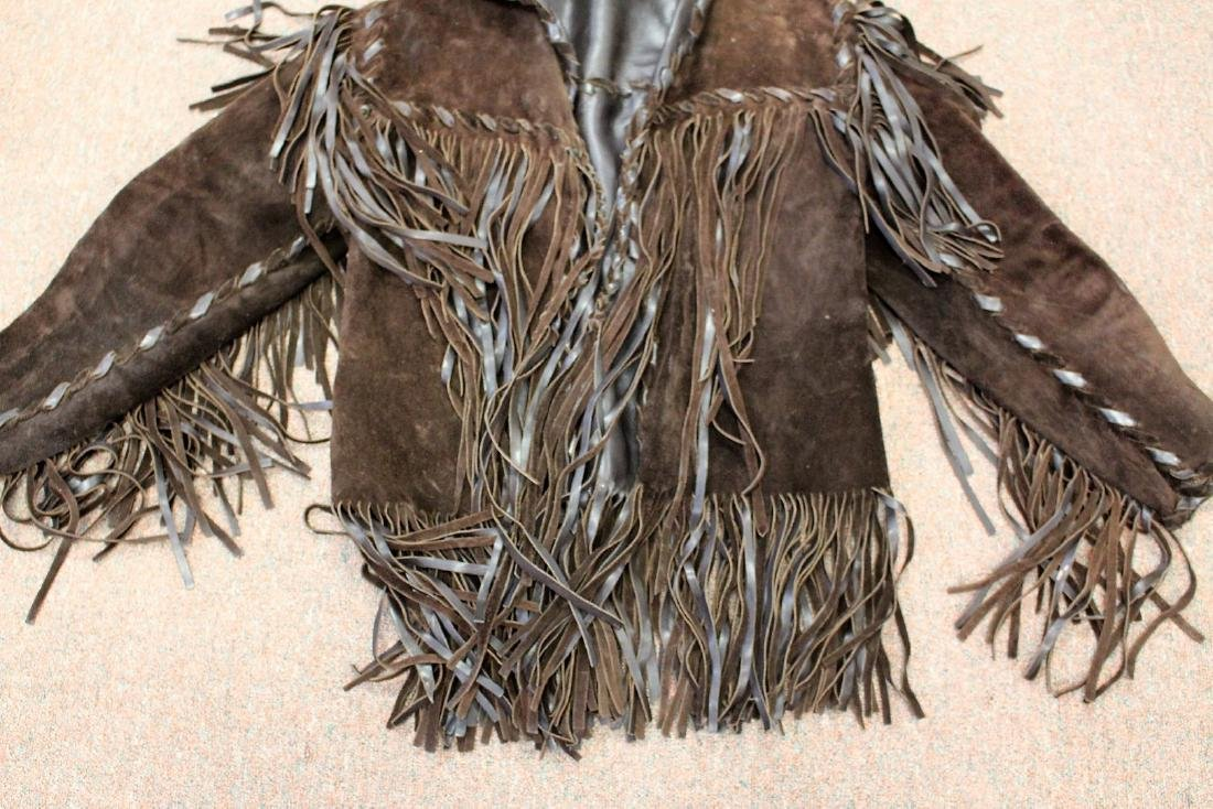Vintage Suede and Fringe Men's Jacket - 3